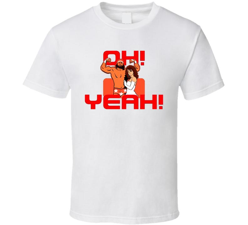 Macho Man Randy Savage Miss Elizabeth Oh Yeah Wrestling T Shirt