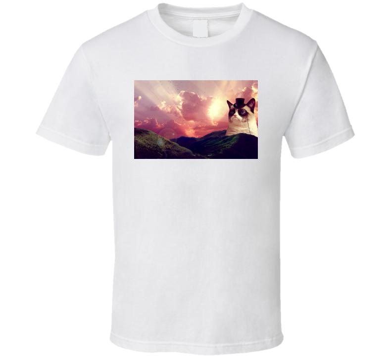 Grumpy Cat Funny Feline Mountain Outdoors T Shirt