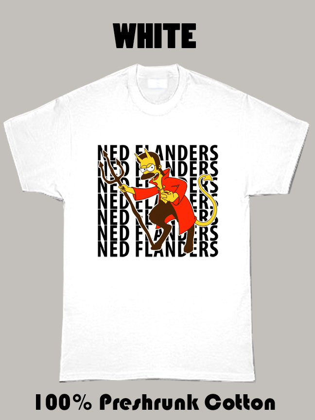 Ned Flanders Simpsons Character Funny T Shirt