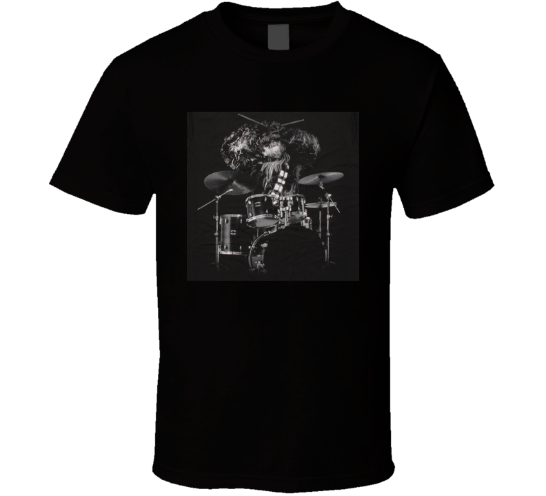 Chewbacca Playing Drums Star Wars Funny Joke Party T Shirt