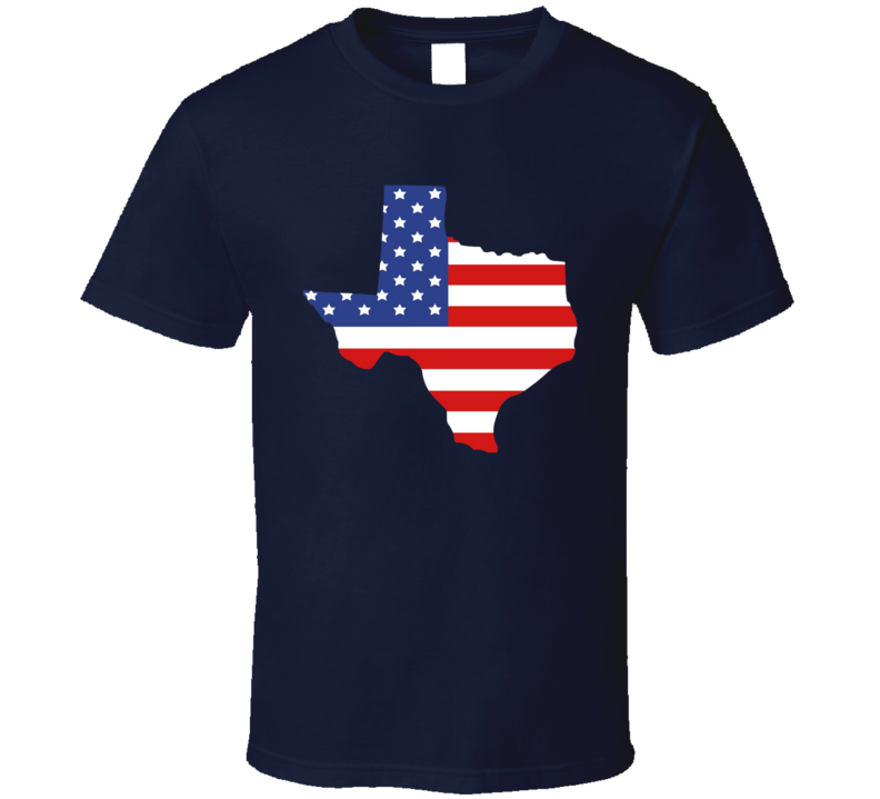 Texas State American Flag Cool T Shirt