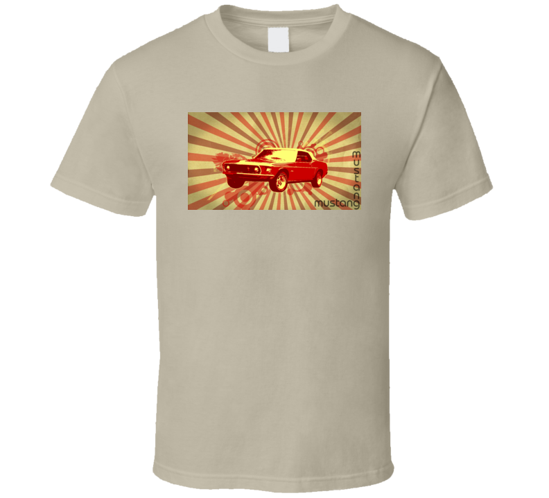 Mustang Cool Sports Car Retro Speed Fast Racing T Shirt