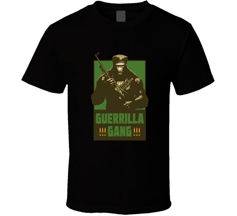 Guerrilla Gang Ape Assassins Why Him Comedy Movie T Shirt