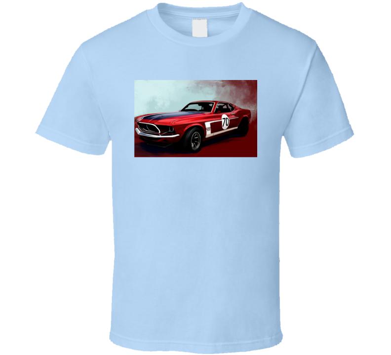 Mustang Cool Sports Car Classic 1970 Retro T Shirt