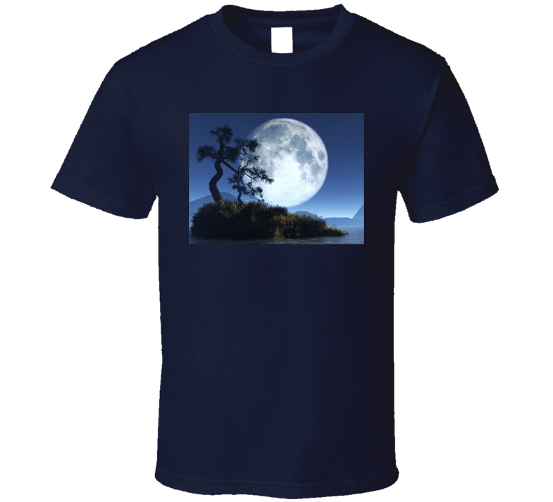 Full Moon Cool Earth And Planets Universe T Shirt