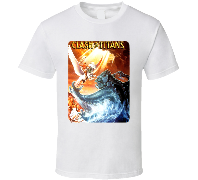 Clash Of The Titans Cool Retro Classic Movie T Shirt