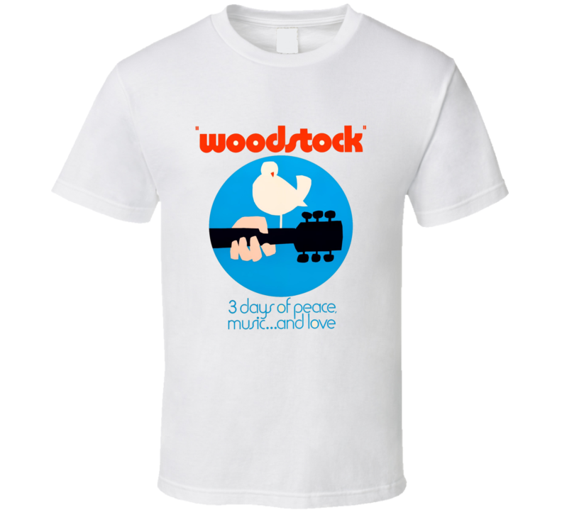 Woodstock 1960's Retro Music Concert Party Hippies Peace T Shirt