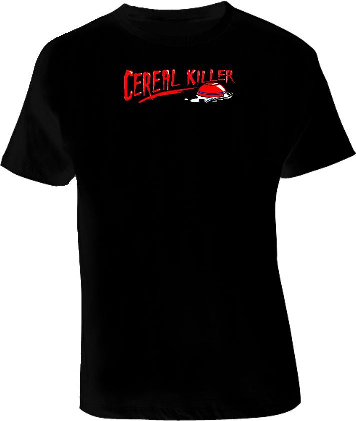 Cereal Killer Funny Joke Grunge T Shirt