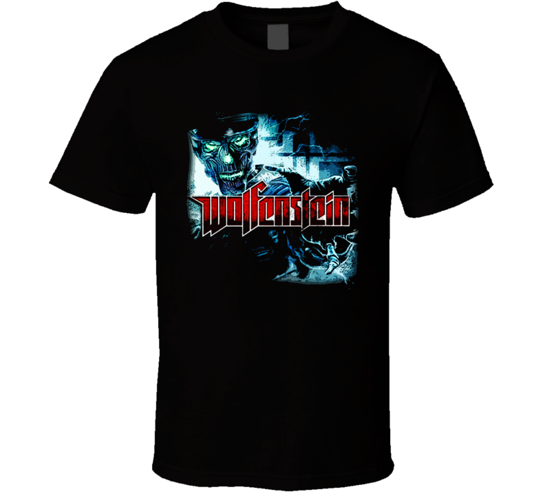 Wolfenstein Video Game First Person Shooter Godfather T Shirt