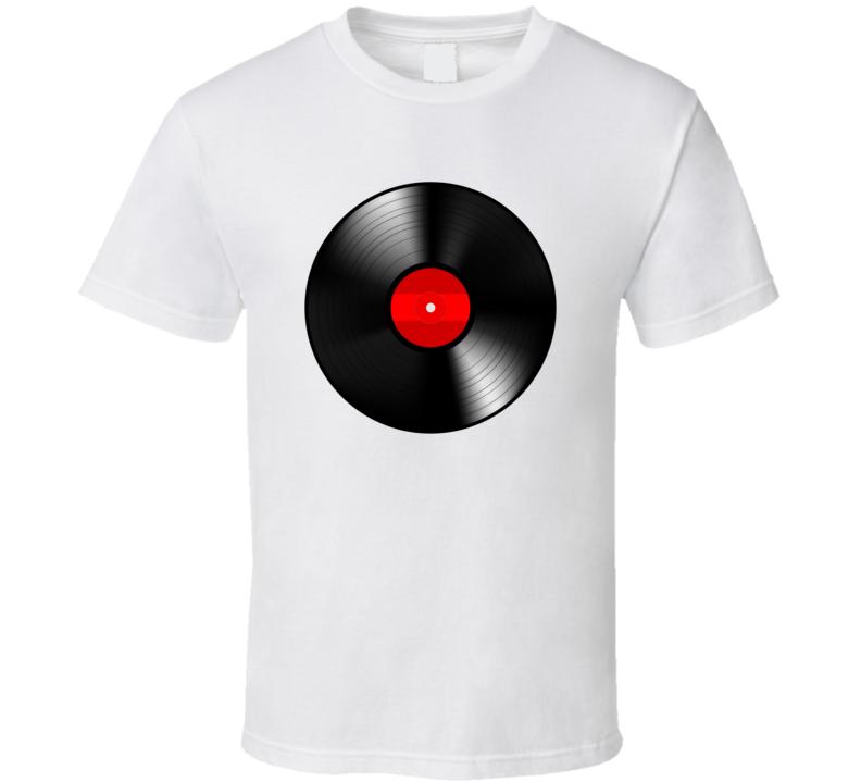 Vinyl Record Music Cool Retro Old School Music T Shirt