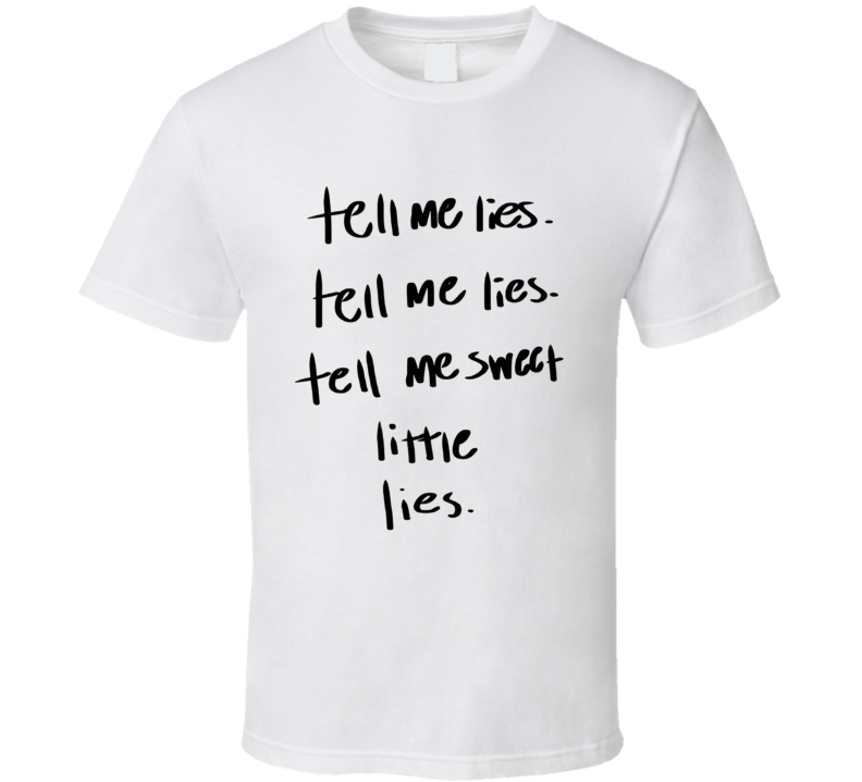 Tell Me Lies Fleetwood Mac Song Lyrics Retro Music T Shirt