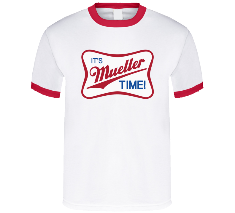 It's Mueller Time Political Parody Beer Funny Joke T Shirt