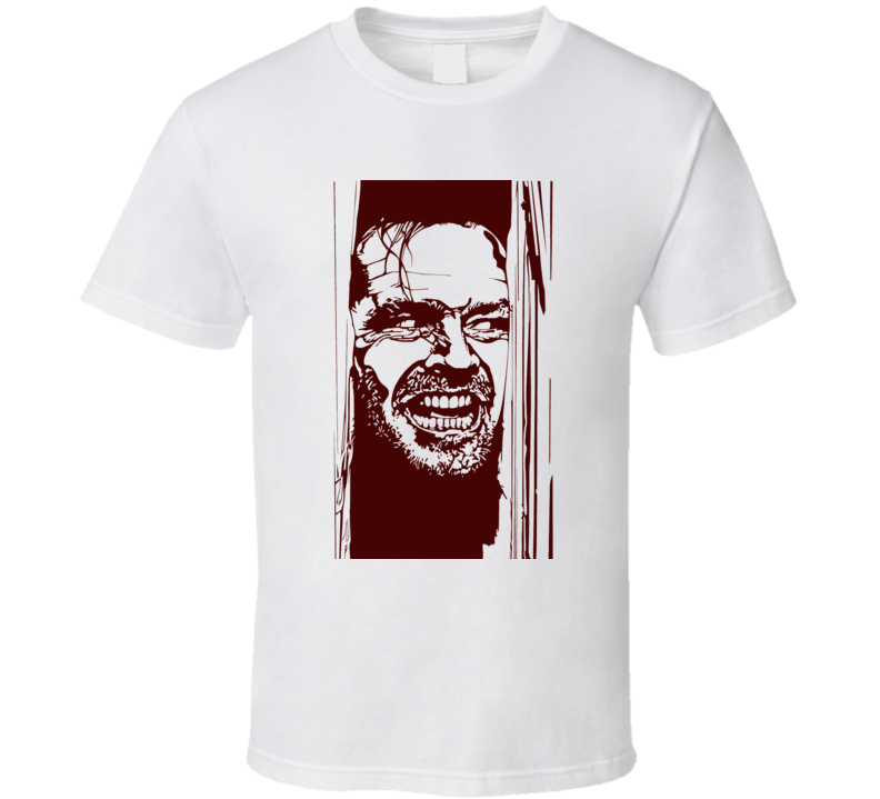 The Shining Here's Johnny Horror Thriller 1980 Movie Retro T Shirt