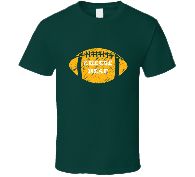 Cheese Head Green Bay Packers Football Sports Fans T Shirt