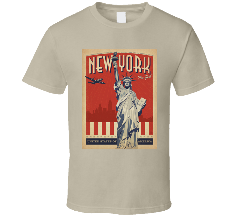 New York City State Tourist Statue Of Liberty American Pride T Shirt