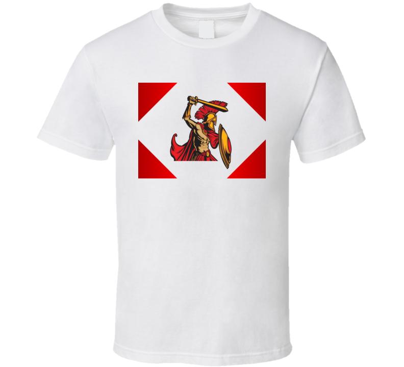 Spartan Warrior Greek Military Force War Fighter T Shirt