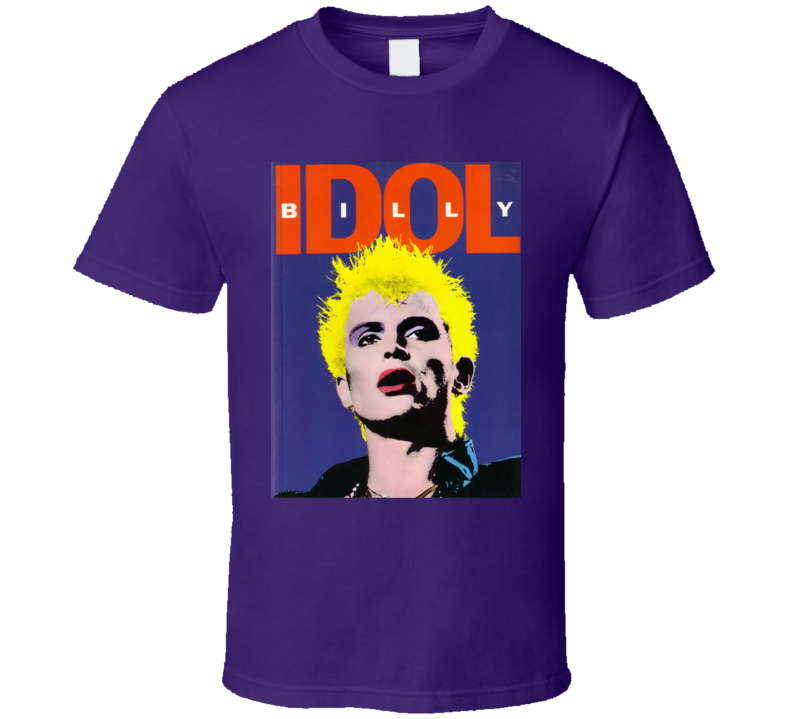 Billy Idol British Punk Rock Musician Singer Concert T Shirt