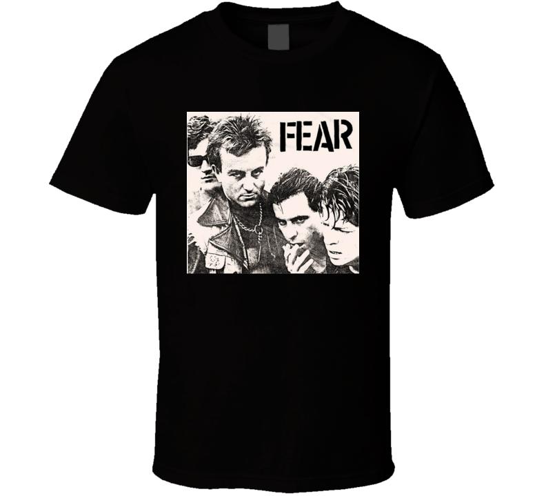 Fear Punk Rock Band La 1970's Music T Shirt