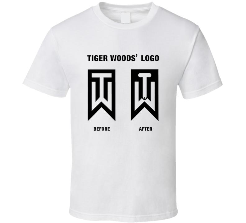 Tiger Woods' New Logo Funny Joke Golf T Shirt