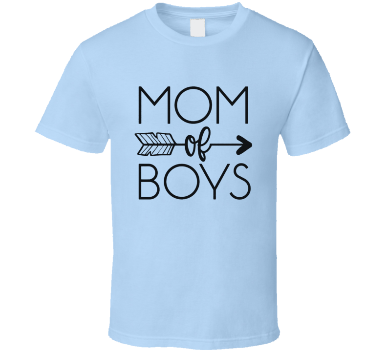 Mom of Boys Cute Mother's Day Gift Present Idea T Shirt
