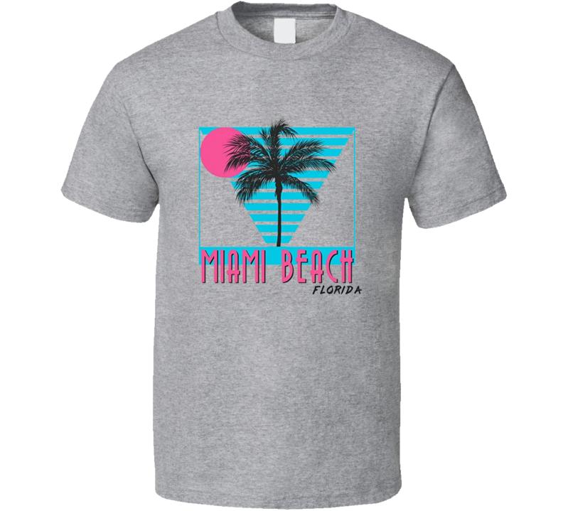 Miami Beach Retro 1980's Style Summer Cool T Shirt