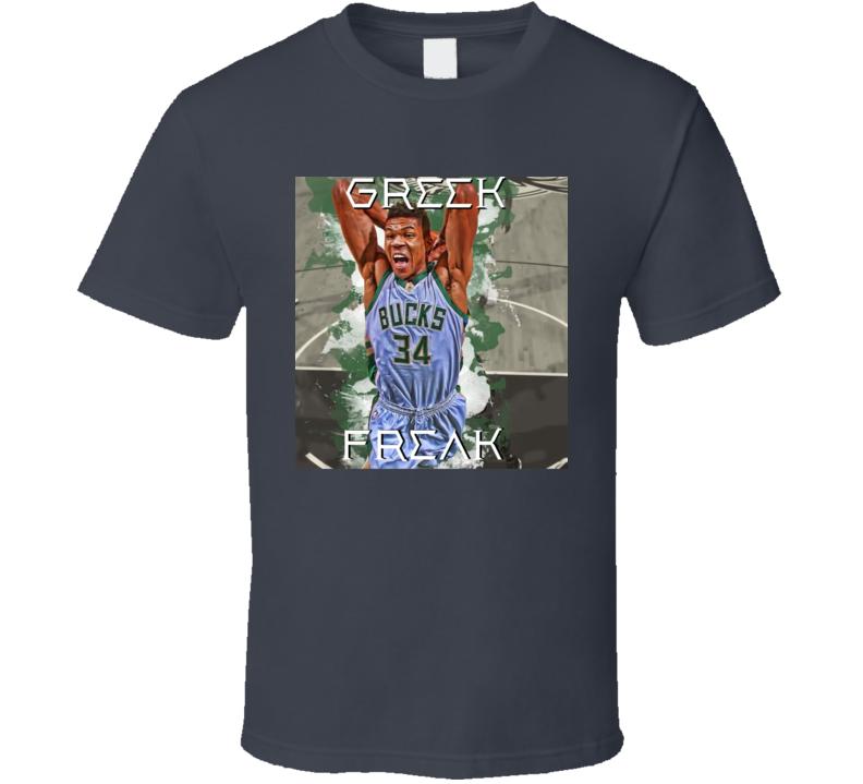 Greek Freak Giannis Antetokounmpo Basketball Player Sports T Shirt