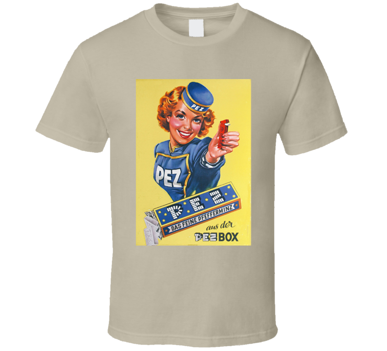 Pez Dispenser Girl Retro Candy  T Shirt