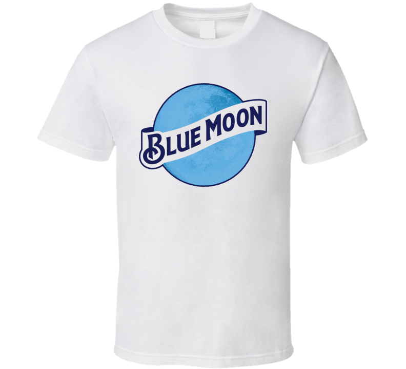 Blue Moon Hops Ale Beer Alcohol Drinking T Shirt
