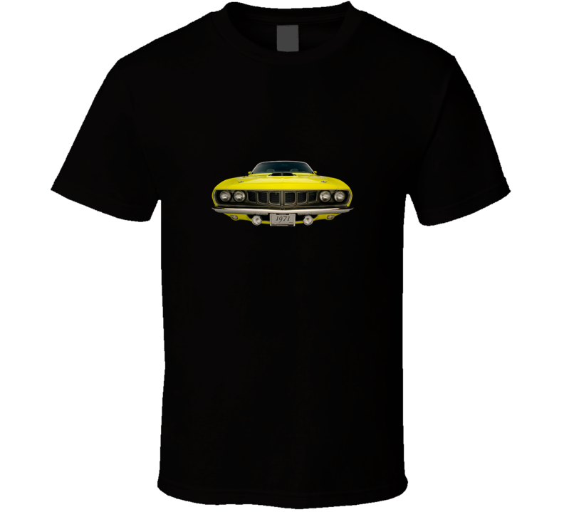 1971 Plymouth Hemi Cuda Convertible Front View Sports Car T Shirt