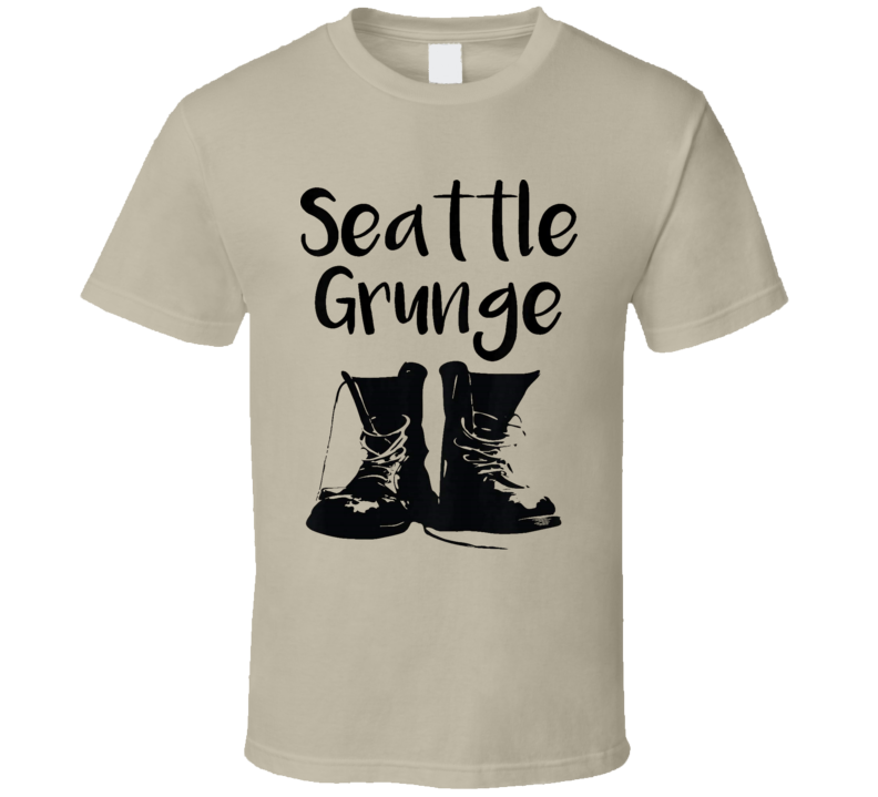 Seattle Grunge Rock Music Bands Cool Retro T Shirt