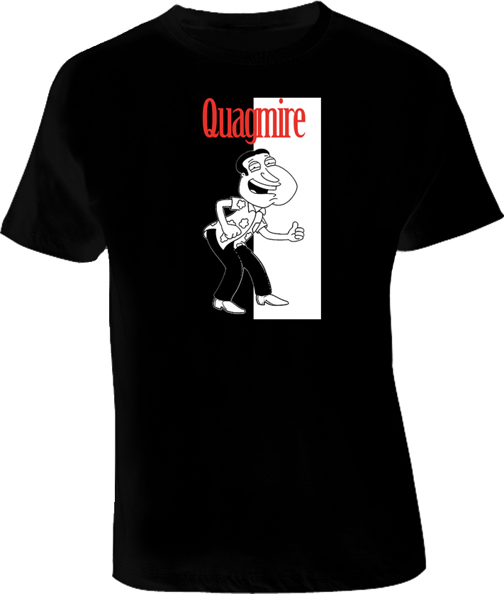 Quagmire Family Guy Scarface style T shirt