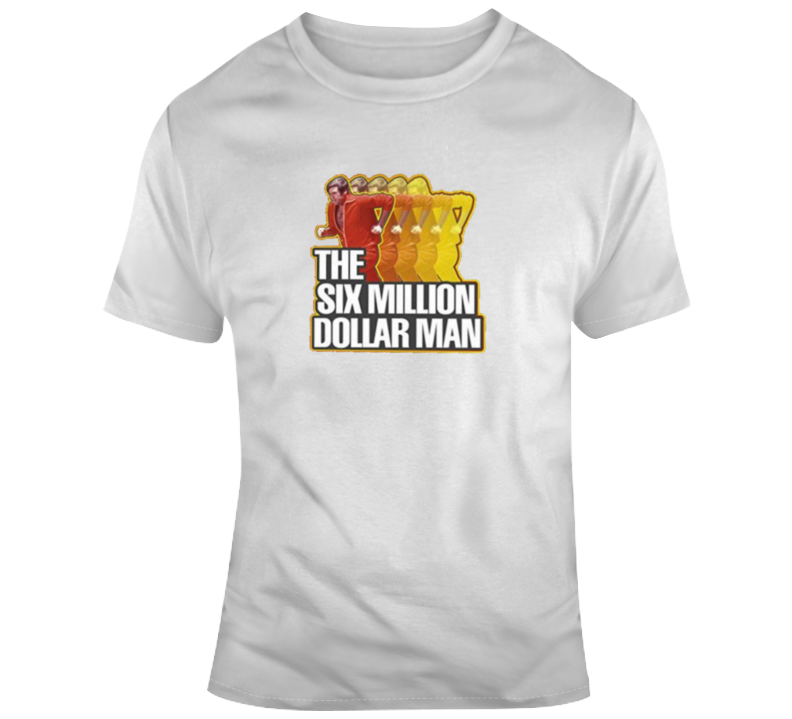 Six Million Dollar Man Retro 1970's Action Classic Tv T Shirt
