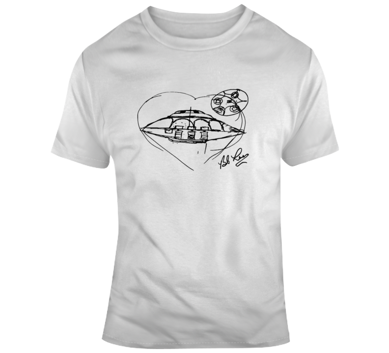 Bob Lazar Sketch Ufo Area 51 Navada Aliens T Shirt