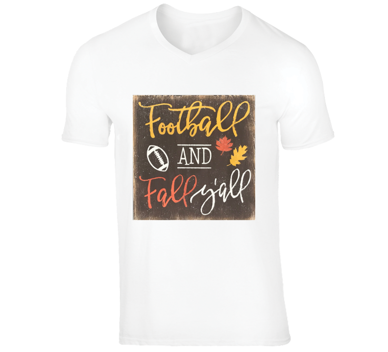 Football And Fall Y'all Game Time Fun Cool Sports T Shirts T Shirt