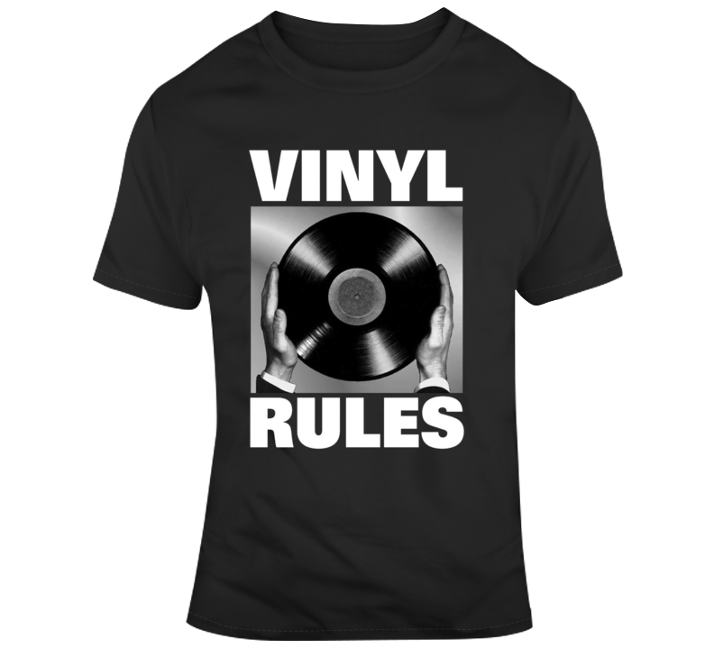 Vinyl Rules Classic Music Record T Shirt