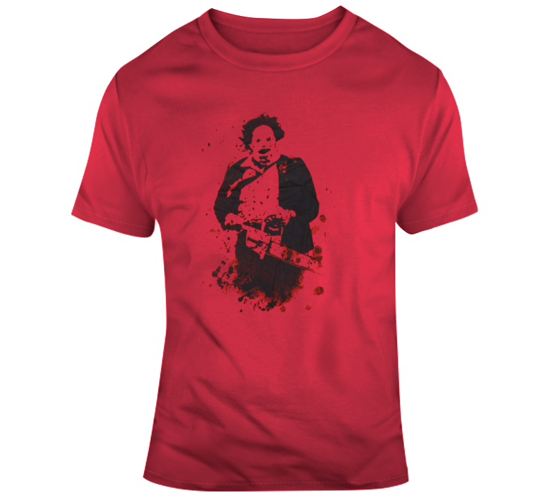 Leatherface Texas Chainsaw Massacre Horror Retro Film Scary T Shirt
