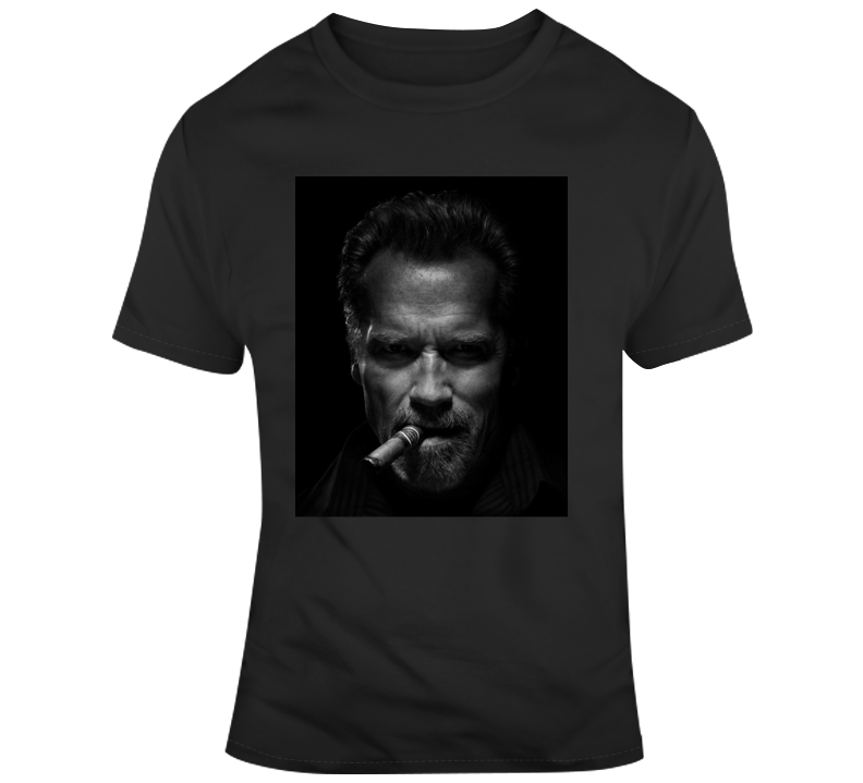 Arnold Schwarzengger Cigar Smoking Classic Actor Action Movies T Shirt