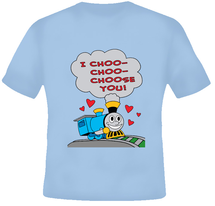 I Choo Choo Choose Funny Valentines cartoon Simpson T shirt