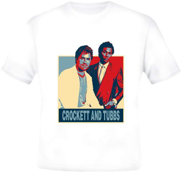 Crockett and Tubbs Miami Vice retro Hope T shirt