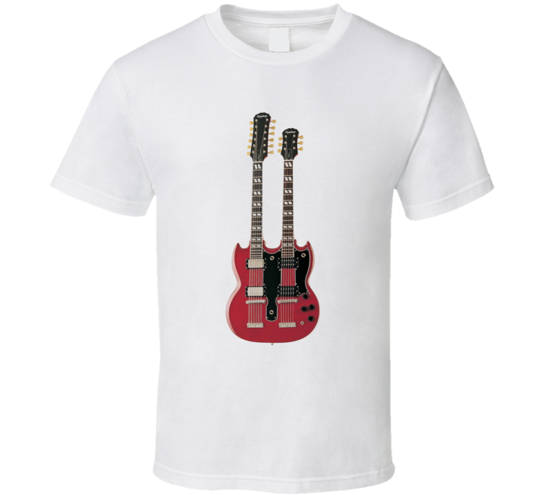 Jimmy Page Gibson Signature Double Neck Guitar T Shirt