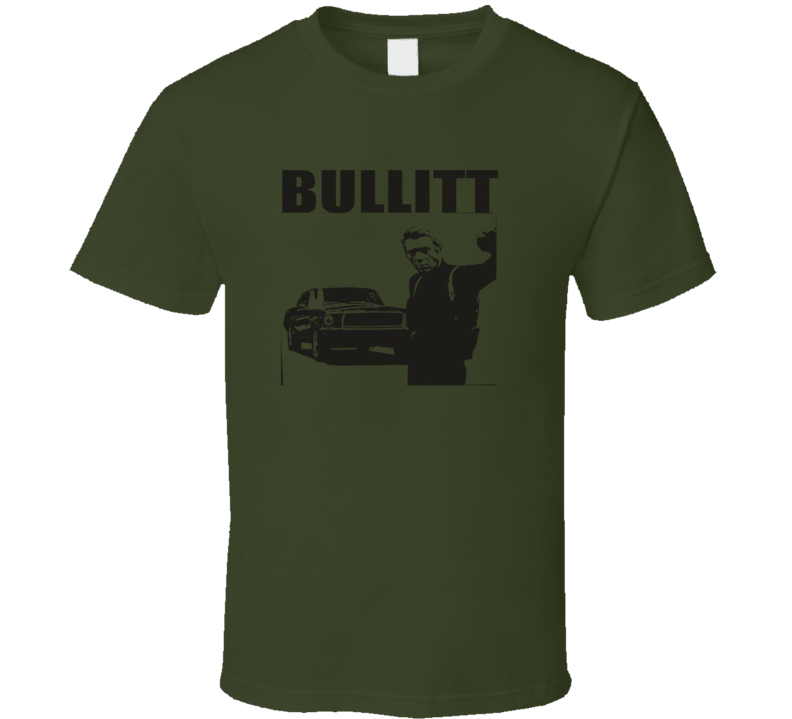 Bullitt Retro Classic Movie Steve Mcqueen T Shirt