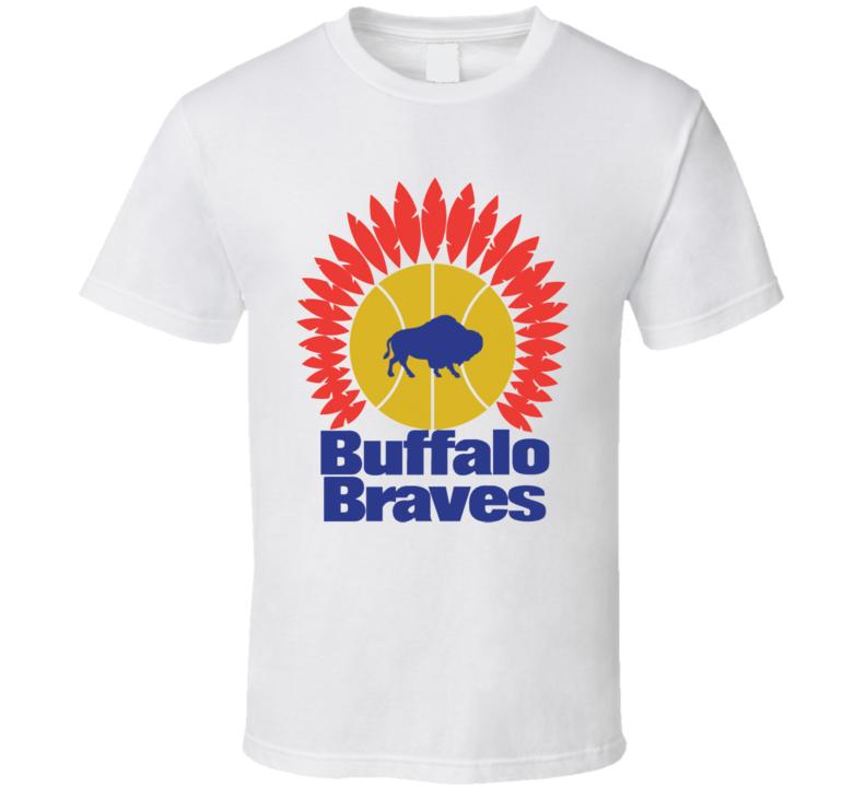 Buffalo Braves Retro Pro 1970's Basketball Team T Shirt
