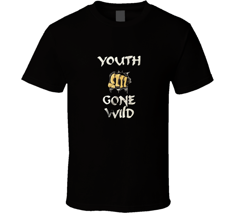 Youth Gone Wild Retro Rock Bands Music Skid Row T Shirt
