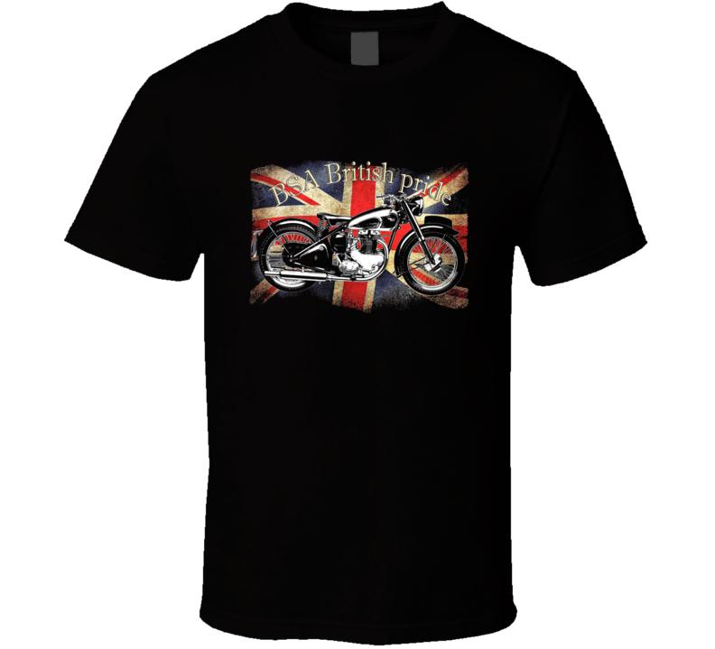 British Pride Motorcycles Cool Bike Bsa T Shirt