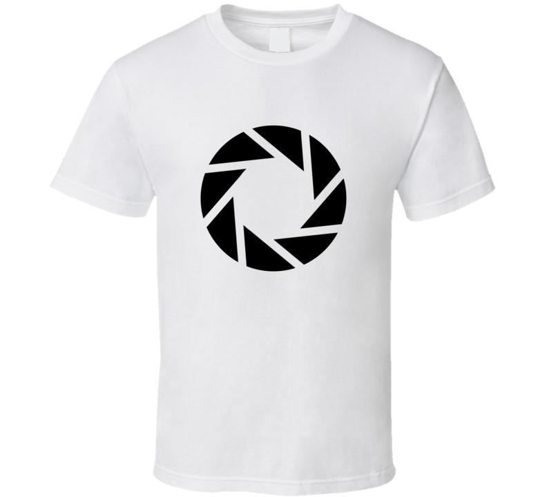 Portal Aperture Science Logo Cool GLaDOS Video Game Portal gun T Shirt