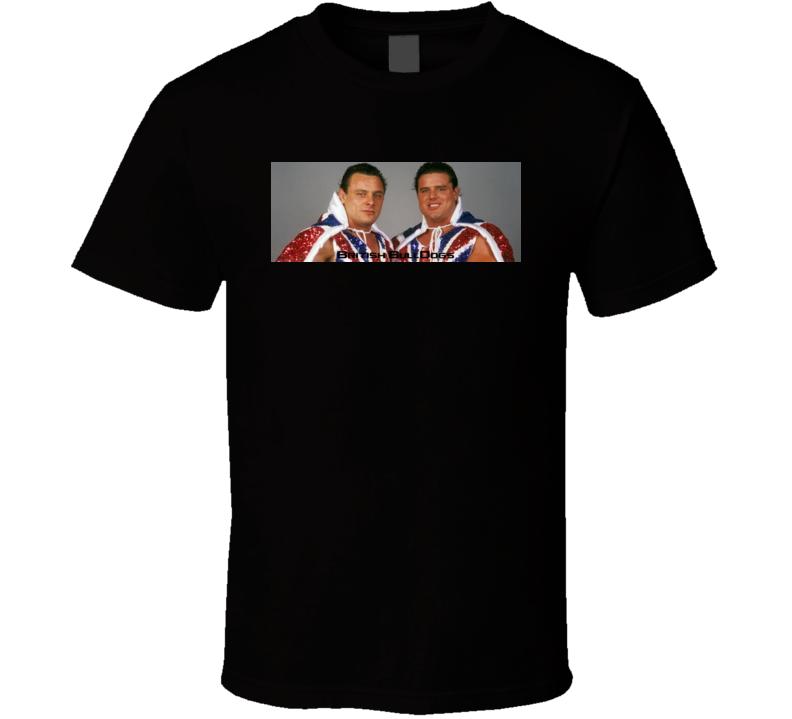 British Bulldogs 80's 90's Retro Wrestlers Davey Boy Smith Dynamite Kid T Shirt