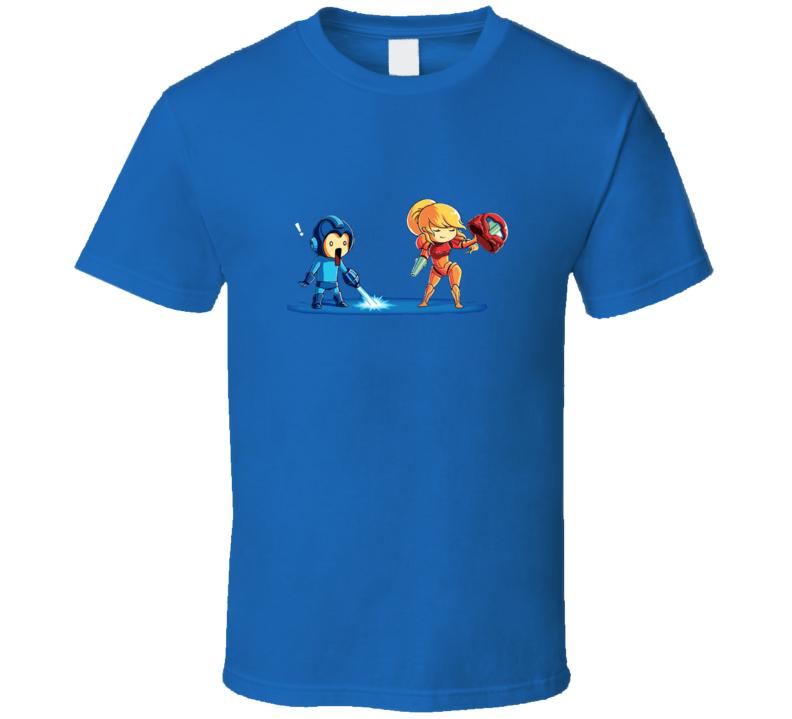 Mega Man Samus Cool Video Game Funny T Shirt