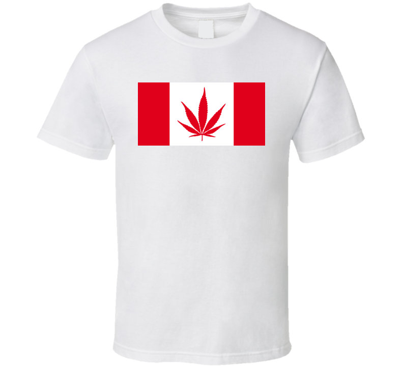 Canada Weed Flag Drug T Shirt