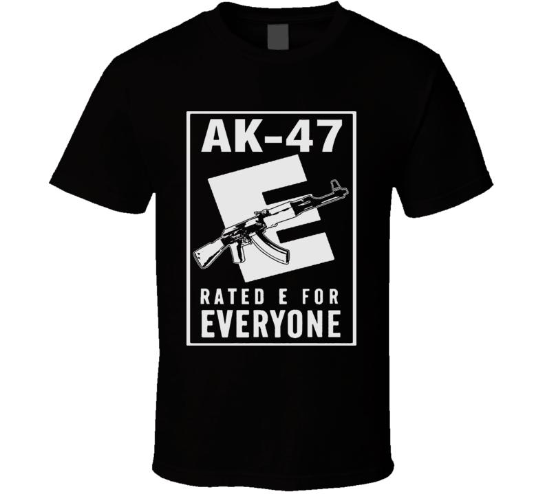Ak 47 Weapon Gun Firearms Rated E T Shirt