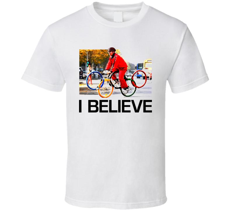 Olympics Bike Symbol Logo T Shirt